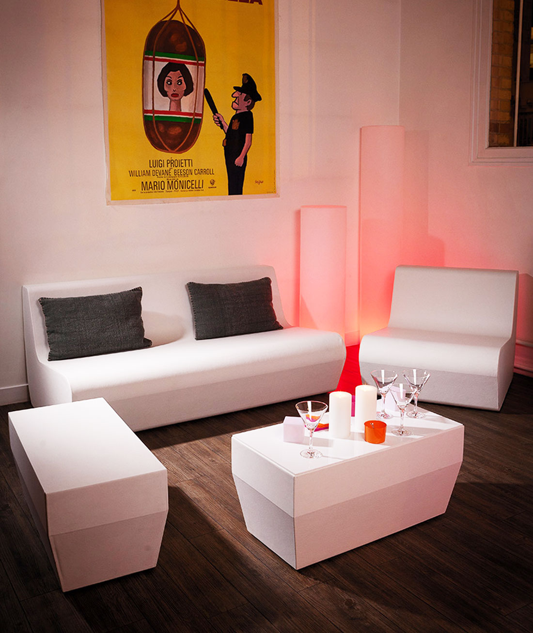 une soir e lounge chez soi avec la tendance light club. Black Bedroom Furniture Sets. Home Design Ideas
