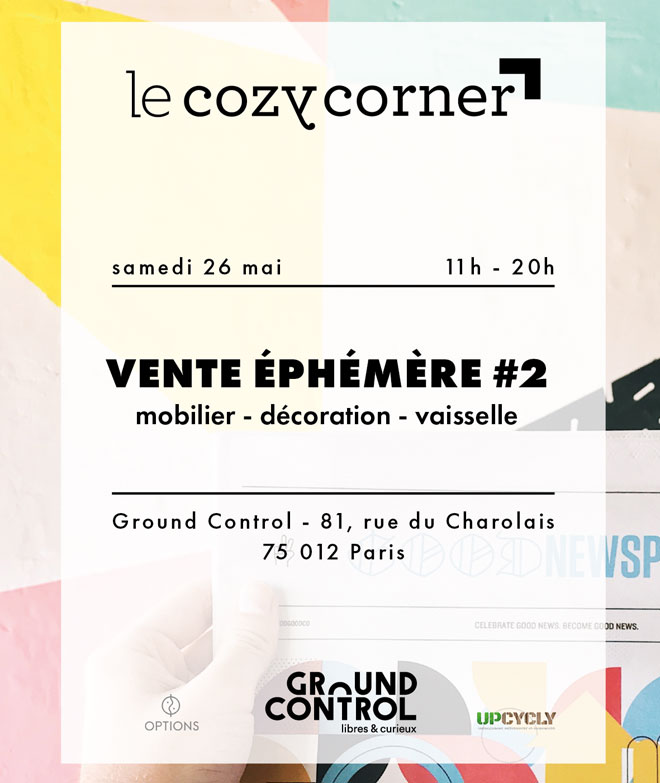 Vente éphémère Le Cozy Corner x Options x Upcycly