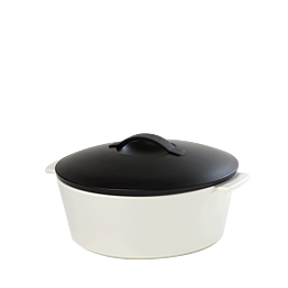 Cocotte black and white Ø 19 cm 150 cl