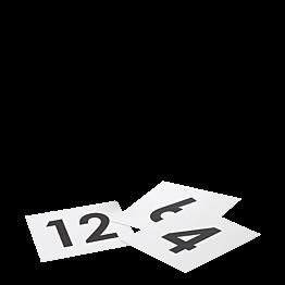 Numéro de table carré souple 1 à 50