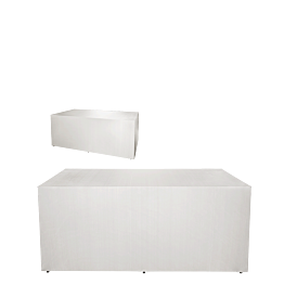 "Buffet pliant houssé blanc ""4 faces"" 80 x 200 cm H 91 cm"