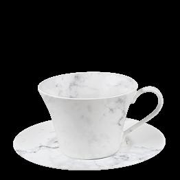 Tasse et sous-tasse à thé Marbre 25 cl
