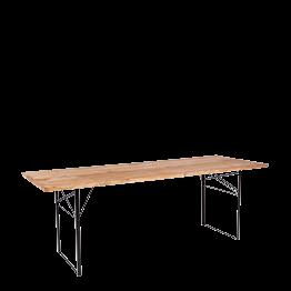 Table Wood rectangulaire 90 x 220 cm H 72 cm