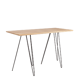Table haute filaire 80 x 180 cm H 108 cm