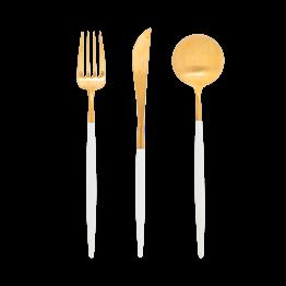 Cutipol blanc et or