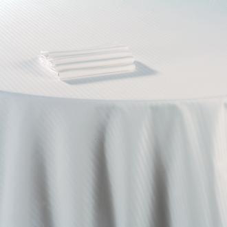 Nappe coton blanc 210 x 210 cm