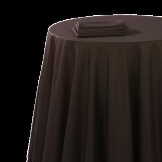Nappe chintz noir 270 x 270 cm ignifugée M1