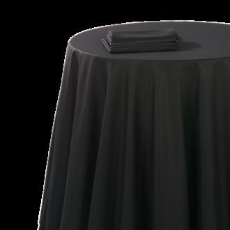 Nappe chintz noir 180 x 180 cm ignifugée M1