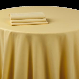 Nappe chintz jaune tournesol 240 x 240 cm