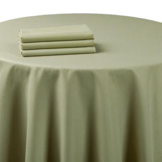 Nappe chintz vert amande 240 x 240 cm