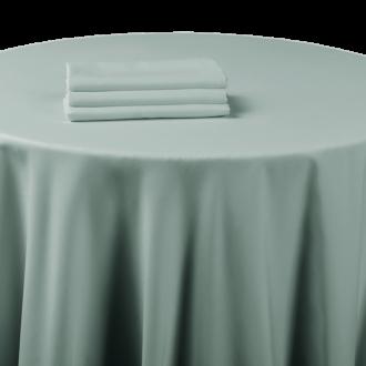 Nappe chintz gris souris 240 x 240 cm ignifugée M1