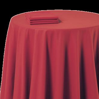 Nappe chintz rouge 210 x 210 cm ignifugée M1