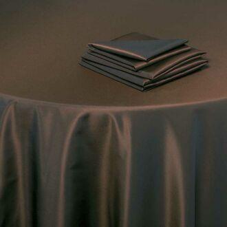 Serviette de table Toscane chocolat 60 x 60 cm