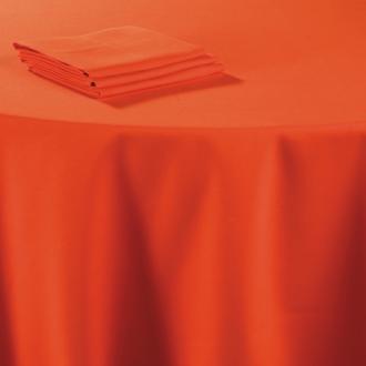 Serviette de table lin corail 60 x 60 cm