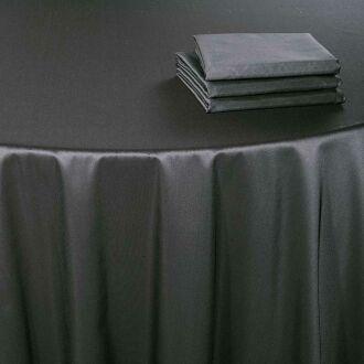 Serviette de table Toscane acier 60 x 60 cm