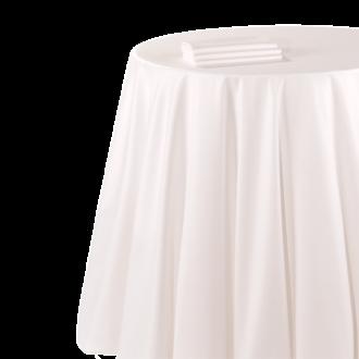 Nappe chintz blanc 290 x 290 cm ignifugée M1