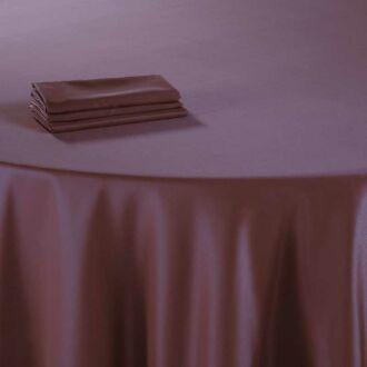 Serviette de table Delhi prune 60 x 60 cm ignifugée M1