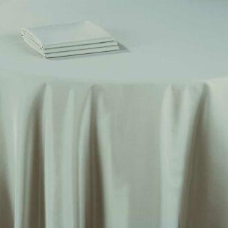Serviette de table Delhi vert céladon 60 x 60 cm ignifugée M1