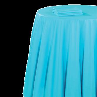 Nappe chintz turquoise 270 x 600 cm