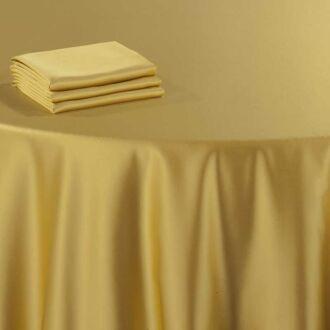 Serviette de table or 60 x 60 cm ignifugée M1