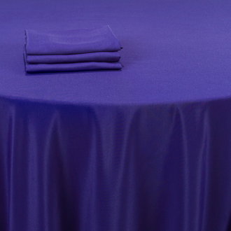 Serviette de table bleu intense 60 x 60 cm