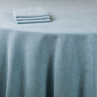Nappe Lin bleu 290 x 290 cm