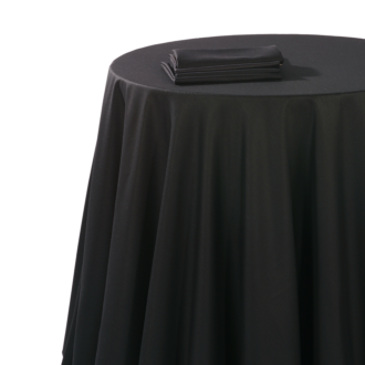 Nappe chintz noir 310 x 310 cm ignifugée M1