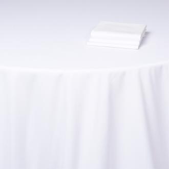 Chemin de table Alaska coton blanc uni 50 x 270 cm