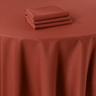 Chemin de table Marjorie terracotta 50 x 270 cm ignifugé M1