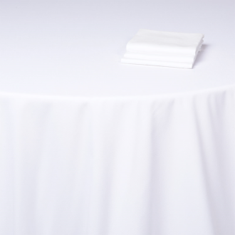 Nappe Alaska coton blanc uni  210 x 210 cm