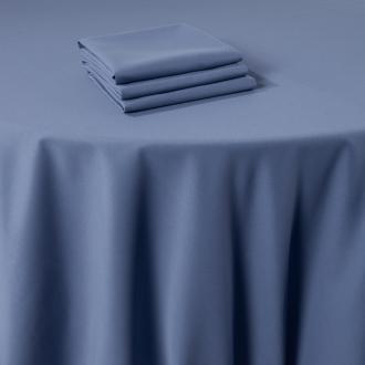 Serviette de table Marjorie bleu 50 x 50 cm ignifugée M1