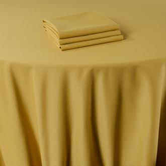 Serviette de  table Marjorie jaune 50 x 50 cm ignifugée M1