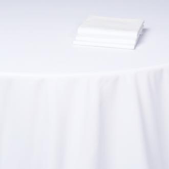Nappe Alaska coton blanc uni 240 x 240 cm