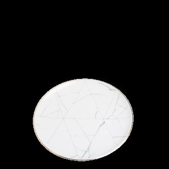 Assiette lunch Marbre Filet Or Ø 22 cm
