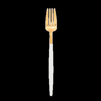 Fourchette de service Cutipol blanc et or