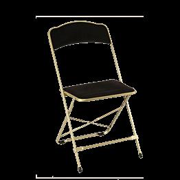 Chaise capitonnée noire ignifugée