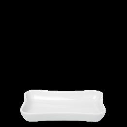 Cendrier blanc porcelaine 7 x 10 cm