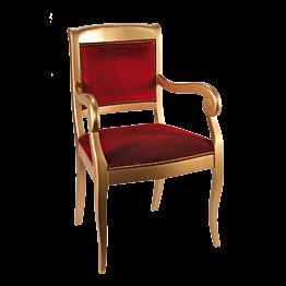 Fauteuil Napoléon III rouge