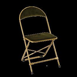 Chaise capitonnée verte ignifugée