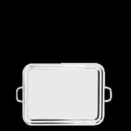 Plateau à anses inox 47 x 60 cm