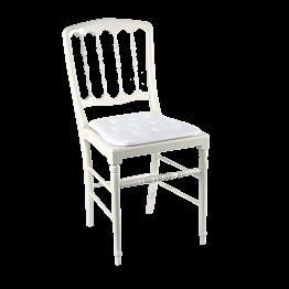 Chaise Napoléon III blanche fixe