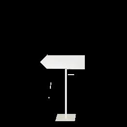 Panneau de direction pied blanc (gauche) H 100 délai 24H
