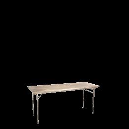 Table d'office inox 80 x 200 cm sur pieds réglables