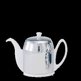 Théière porcelaine blanc inox 140 cl
