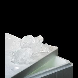Glace à rafraîchir de 20 kg + bac isotherme