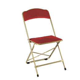 Chaise capitonnée rouge