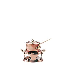 Mini poêlon Ø 9 cm avec réchaud et couvercle