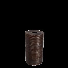Poubelle en osier avec couvercle H 60 cm Ø 35 cm