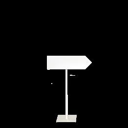 Panneau de direction pied blanc (droit) H 100 délai 24H