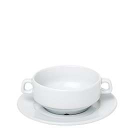 Tasse et sous-tasse à consommé Ø 11 cm H 6,5 cm 26 cl